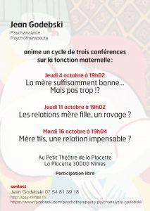 conférence psy la fonction maternelle godebski psychothérapeute nimes